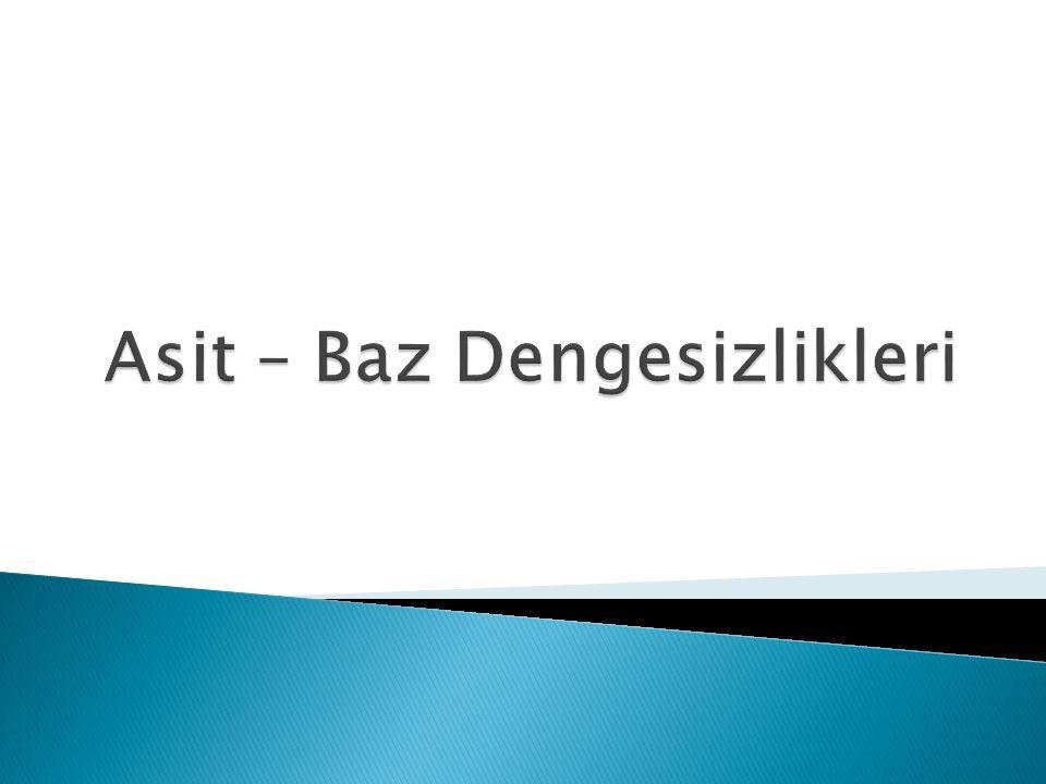Asit – Baz Dengesizlikleri