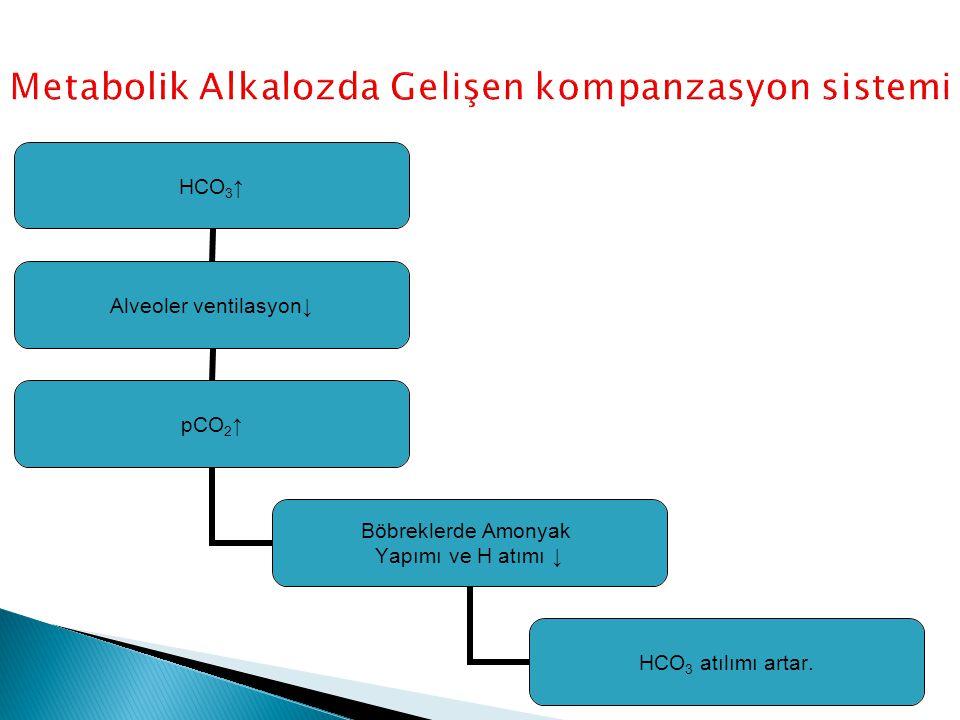 Metabolik Alkalozda Gelişen kompanzasyon sistemi