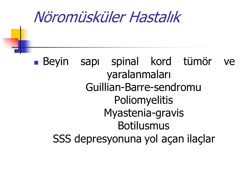 Nöromüsküler Hastalık