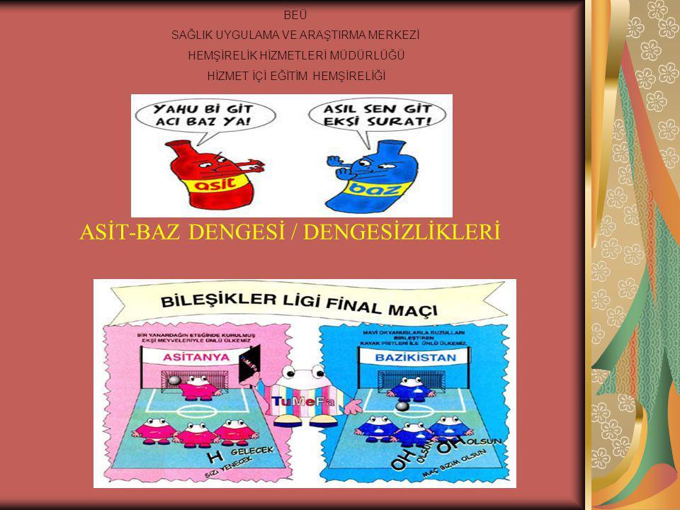 ASİT-BAZ DENGESİ / DENGESİZLİKLERİ