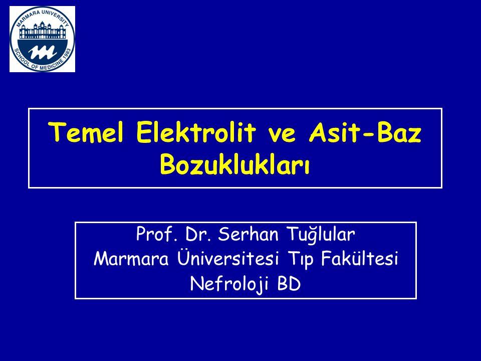 Temel Elektrolit ve Asit-Baz Bozuklukları