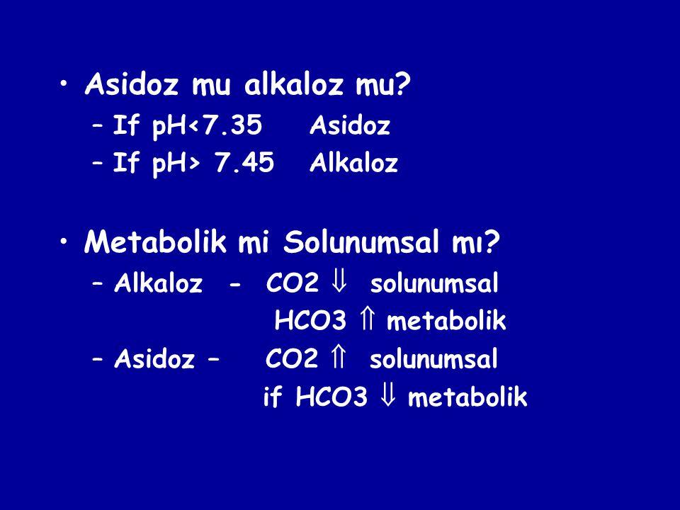 Metabolik mi Solunumsal mı