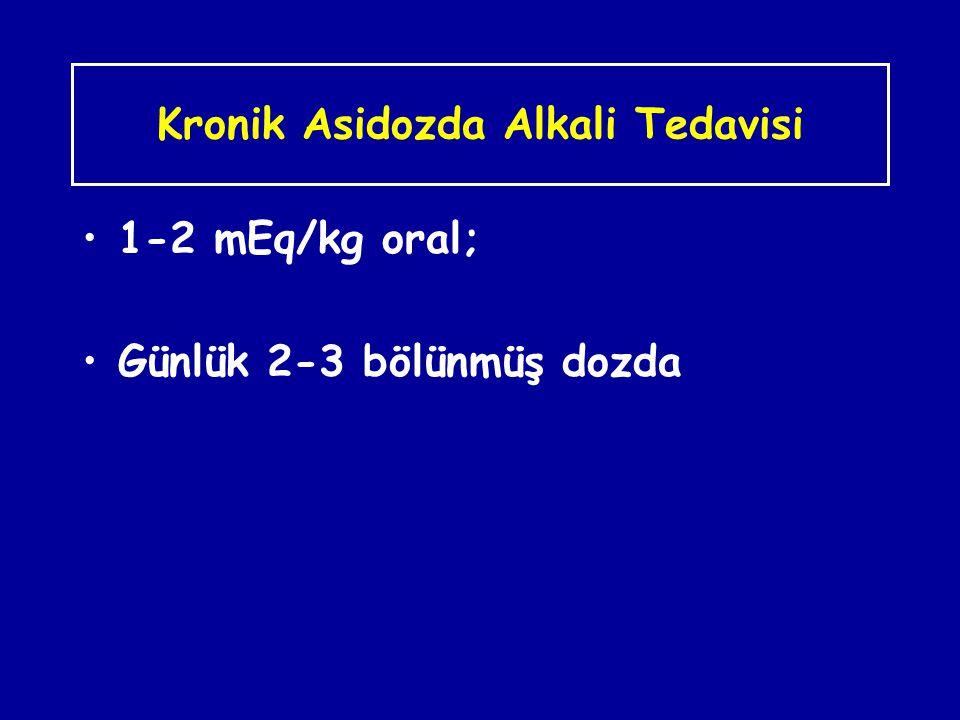 Kronik Asidozda Alkali Tedavisi