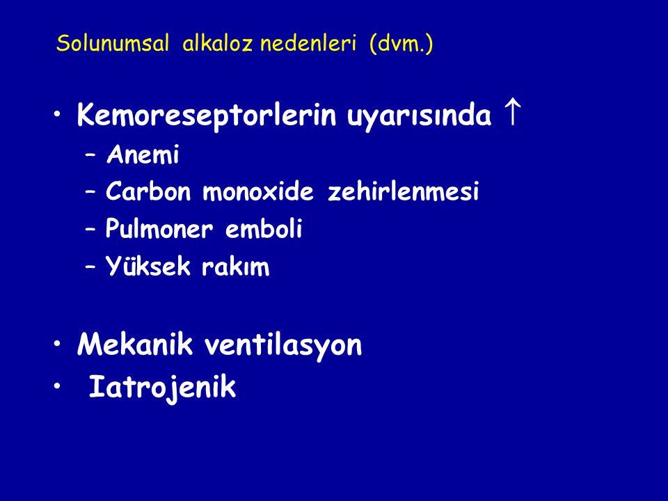 Kemoreseptorlerin uyarısında 