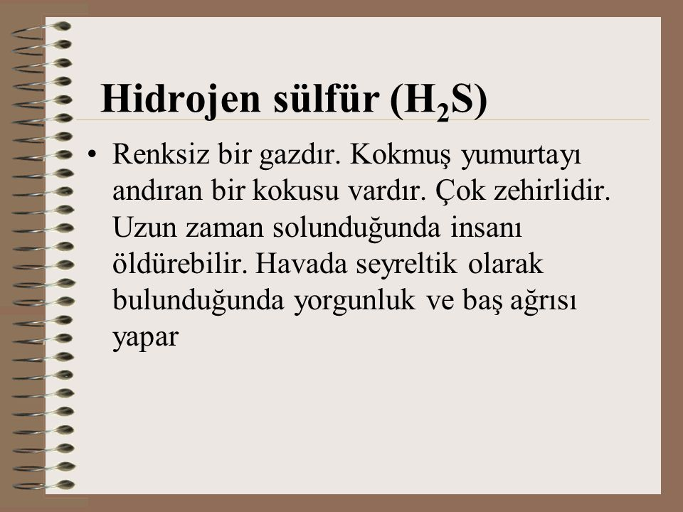 Hidrojen sülfür (H2S)
