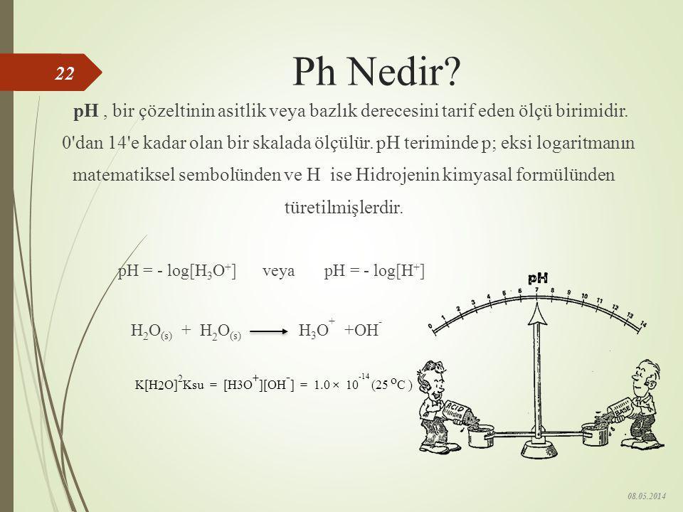 matematiksel sembolünden ve H ise Hidrojenin kimyasal formülünden