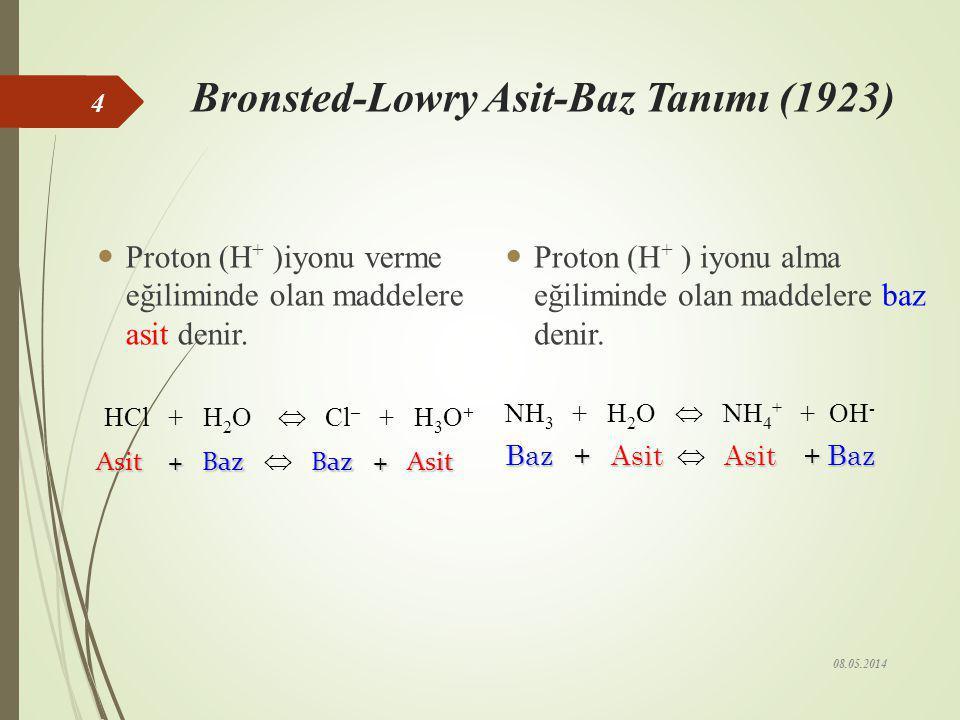 Bronsted-Lowry Asit-Baz Tanımı (1923)