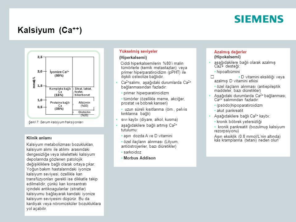 Kalsiyum (Ca++) Yükselmiş seviyeler (Hiperkalsemi)