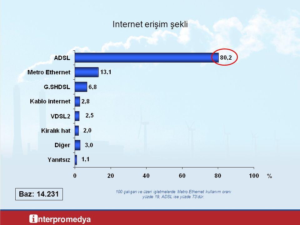 Internet erişim şekli Baz: 14.231