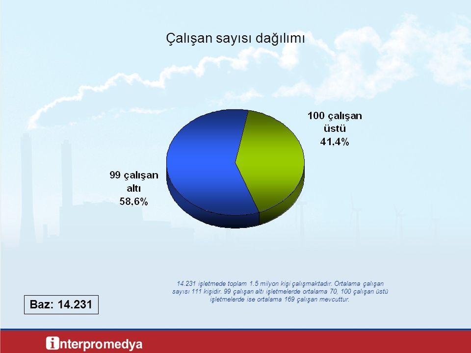 Çalışan sayısı dağılımı