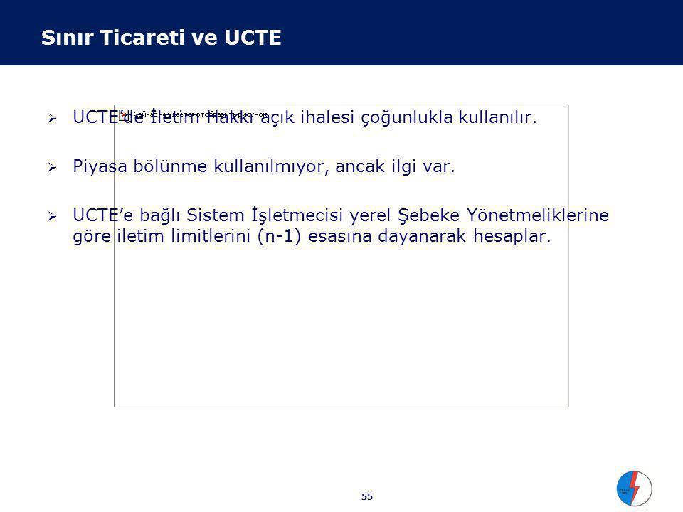 UCTE Piyasa Deneyimi Yük dağıtımı için açık/şeffaf tarifeler ve kurallar ticareti arttırıyor. Tarife yapısı İskandinav Bölge ile aynı esasa dayalı :