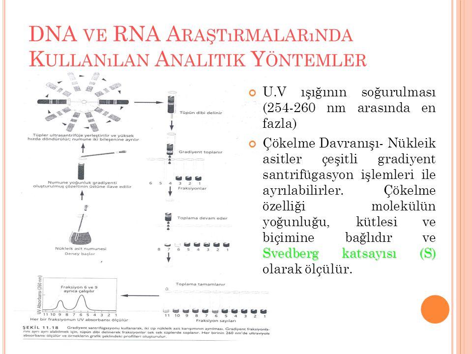 DNA ve RNA Araştırmalarında Kullanılan Analitik Yöntemler