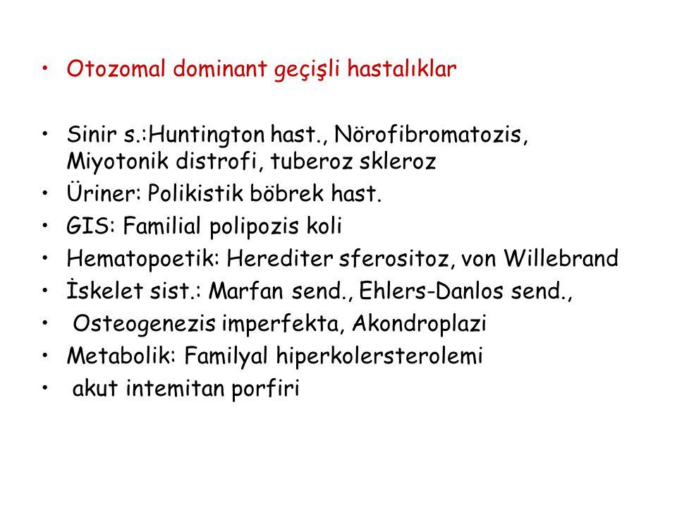 Otozomal dominant geçişli hastalıklar