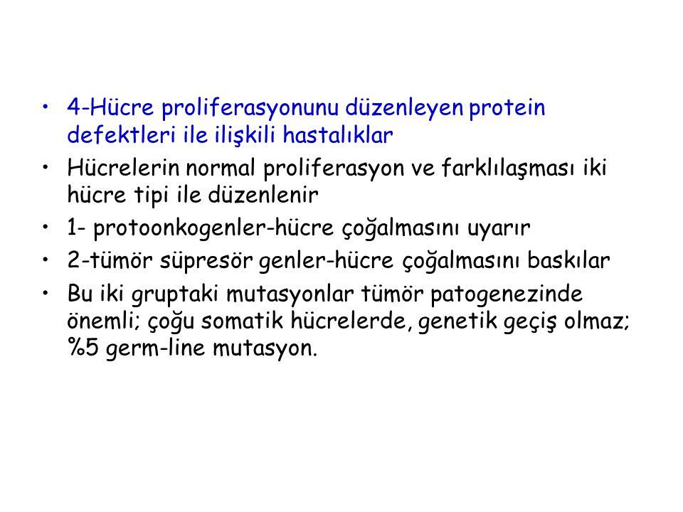 4-Hücre proliferasyonunu düzenleyen protein defektleri ile ilişkili hastalıklar