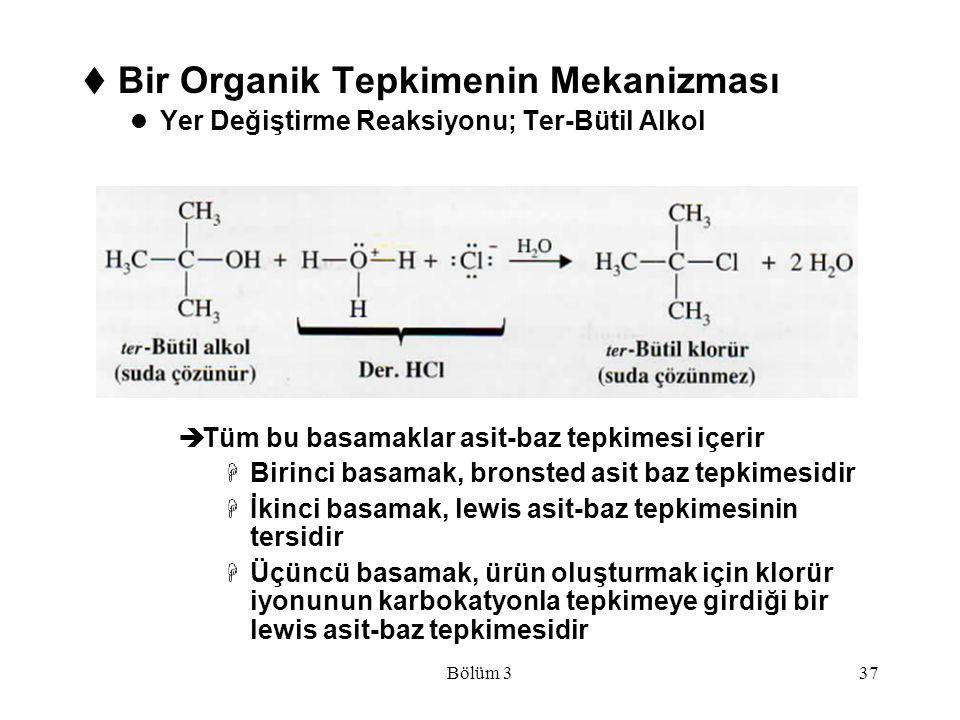 Bir Organik Tepkimenin Mekanizması
