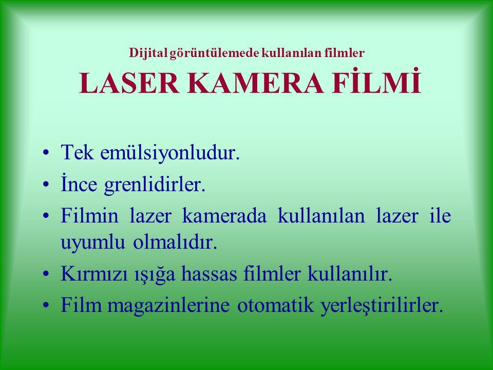 Dijital görüntülemede kullanılan filmler LASER KAMERA FİLMİ