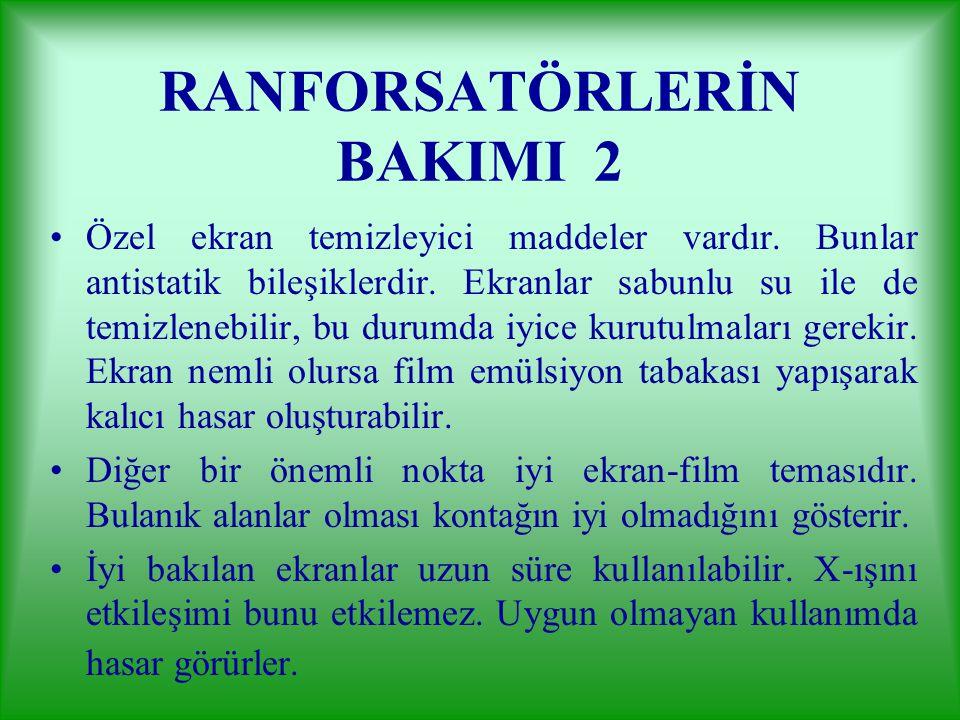 RANFORSATÖRLERİN BAKIMI 2