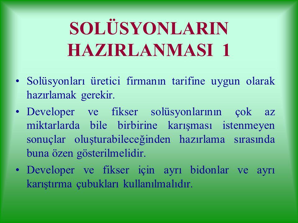 SOLÜSYONLARIN HAZIRLANMASI 1