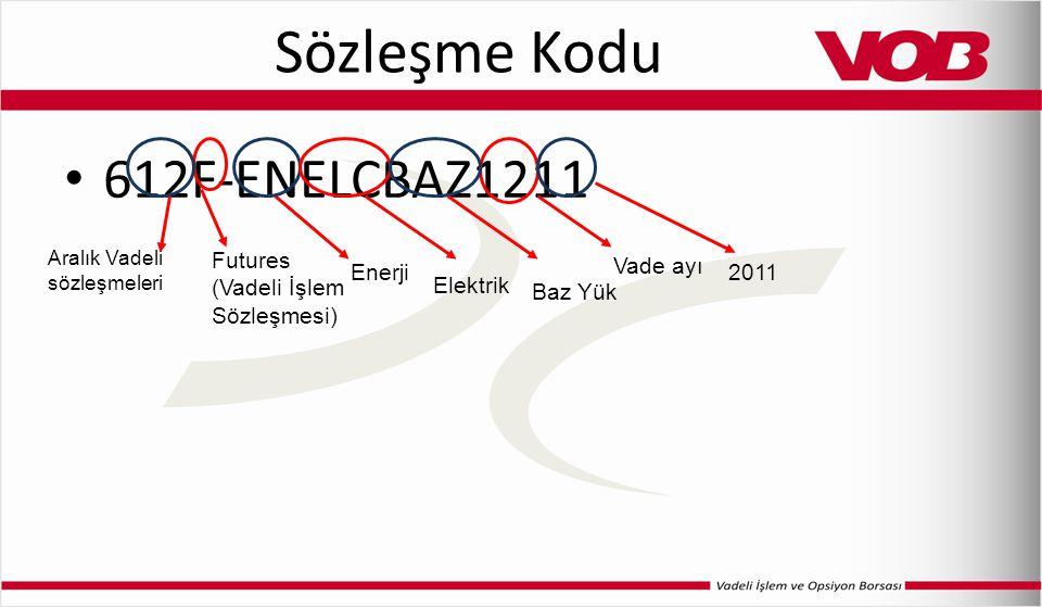 Sözleşme Kodu 612F-ENELCBAZ1211 Futures (Vadeli İşlem Sözleşmesi)