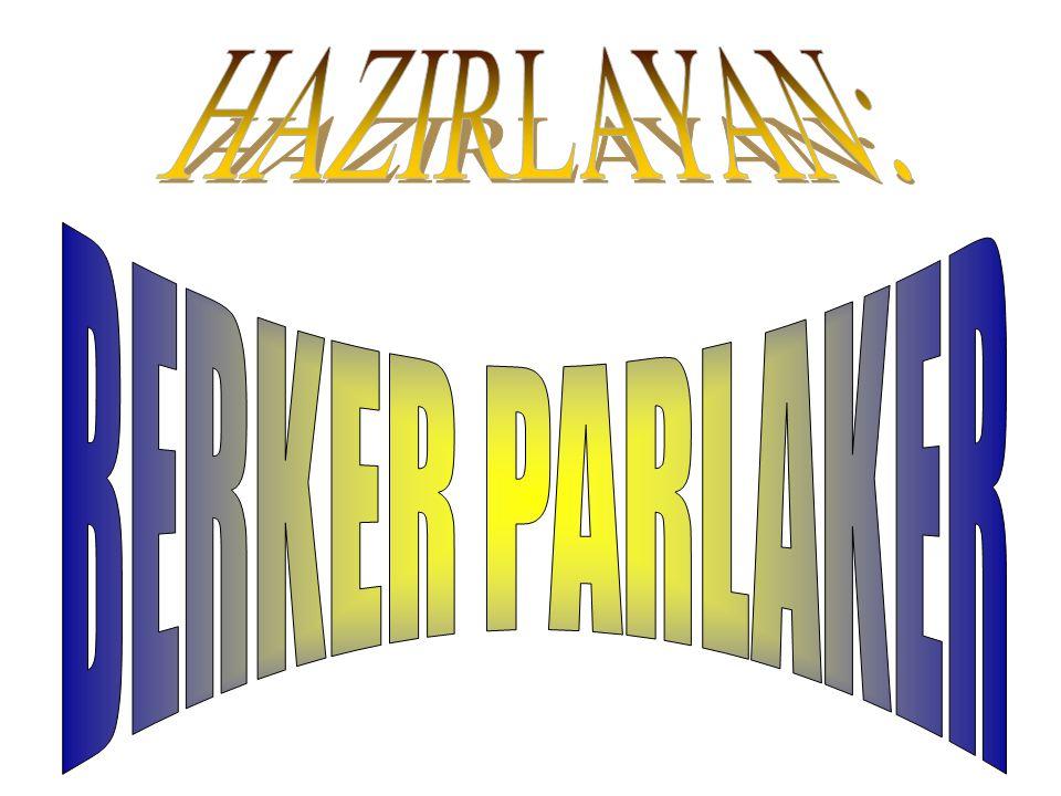 HAZIRLAYAN: BERKER PARLAKER