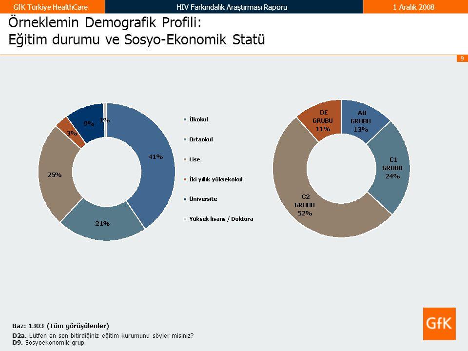 Örneklemin Demografik Profili: Eğitim durumu ve Sosyo-Ekonomik Statü