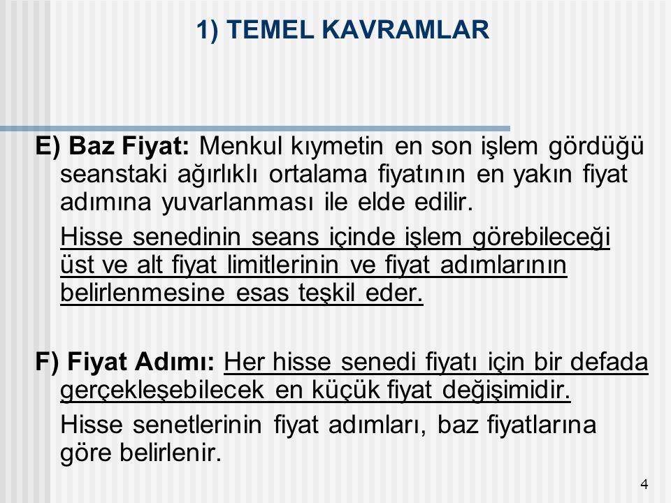1) TEMEL KAVRAMLAR