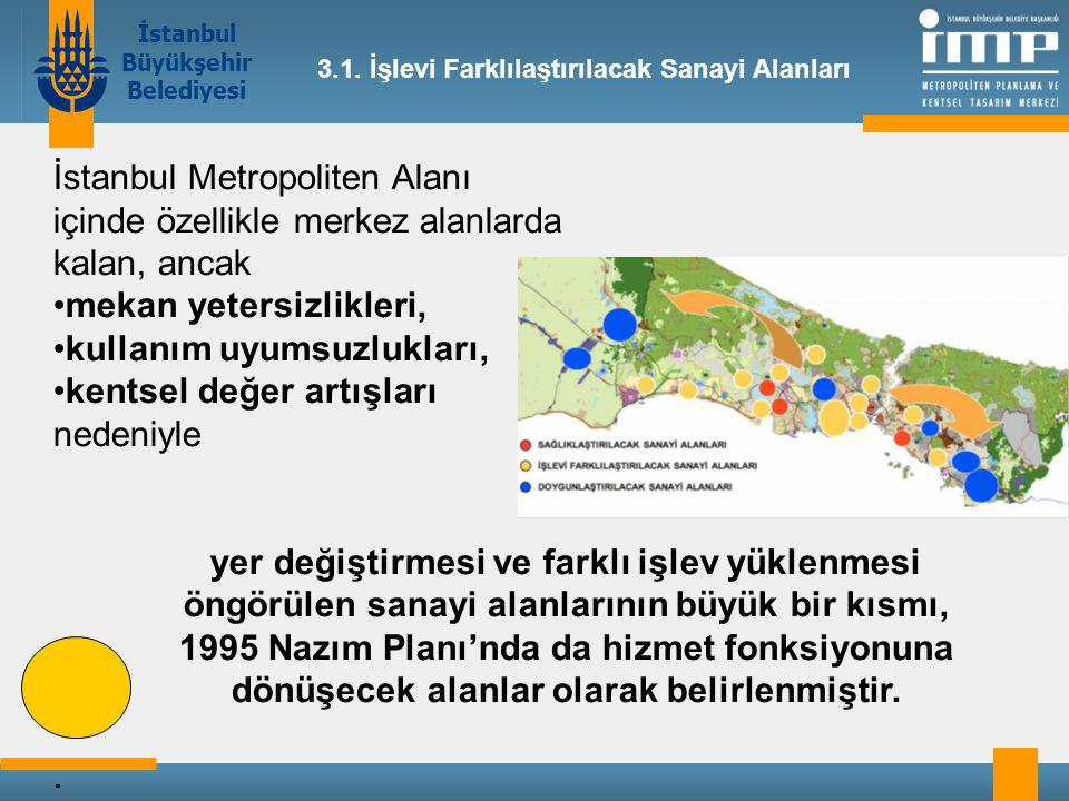 İstanbul Metropoliten Alanı içinde özellikle merkez alanlarda