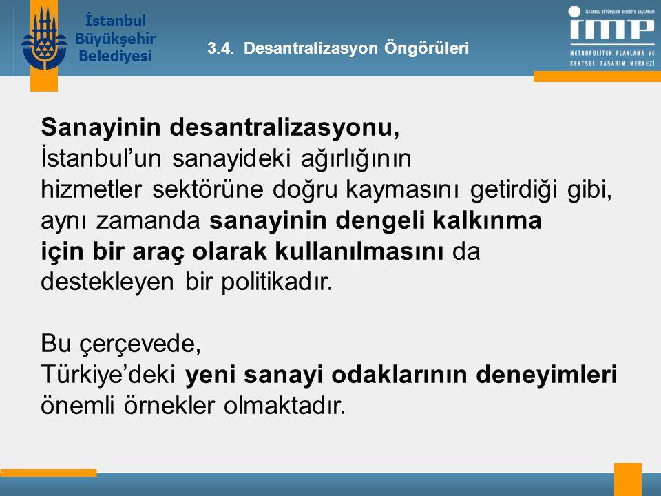 Sanayinin desantralizasyonu, İstanbul'un sanayideki ağırlığının