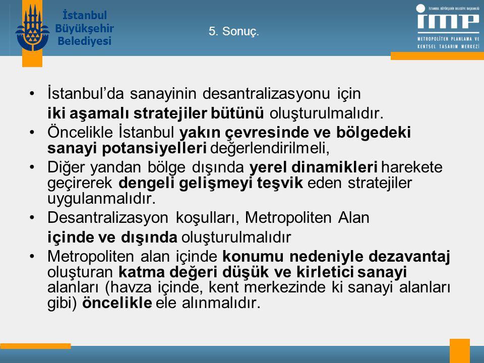 İstanbul'da sanayinin desantralizasyonu için
