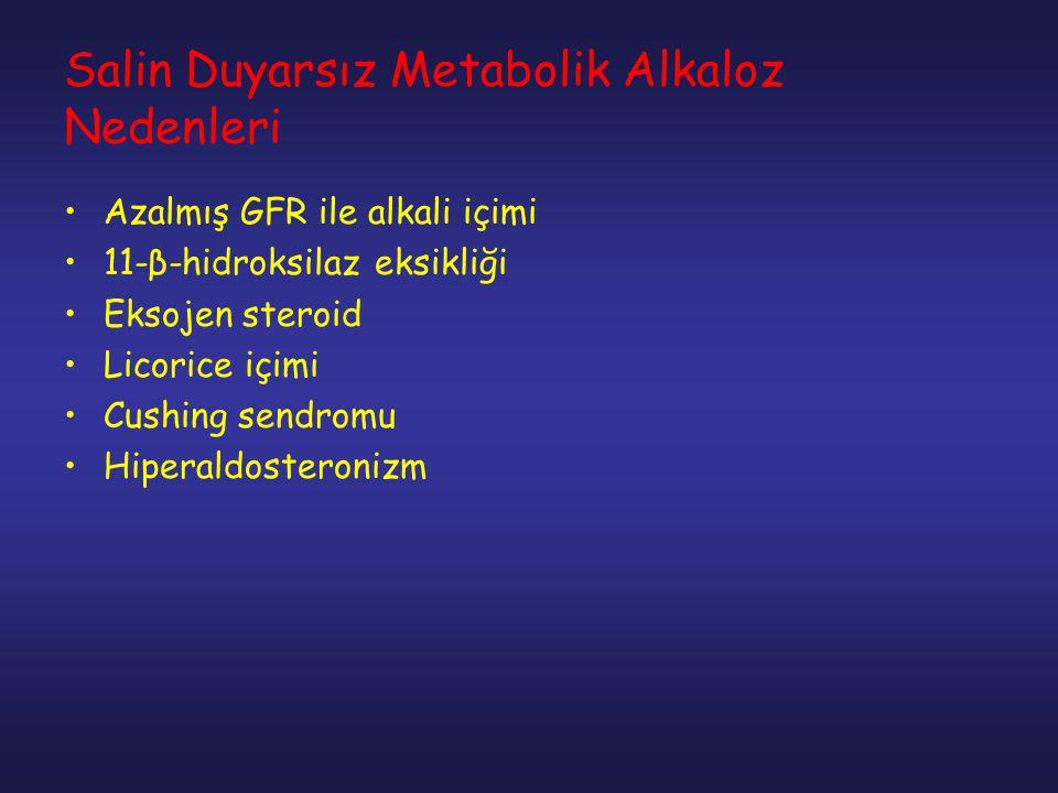 Salin Duyarsız Metabolik Alkaloz Nedenleri