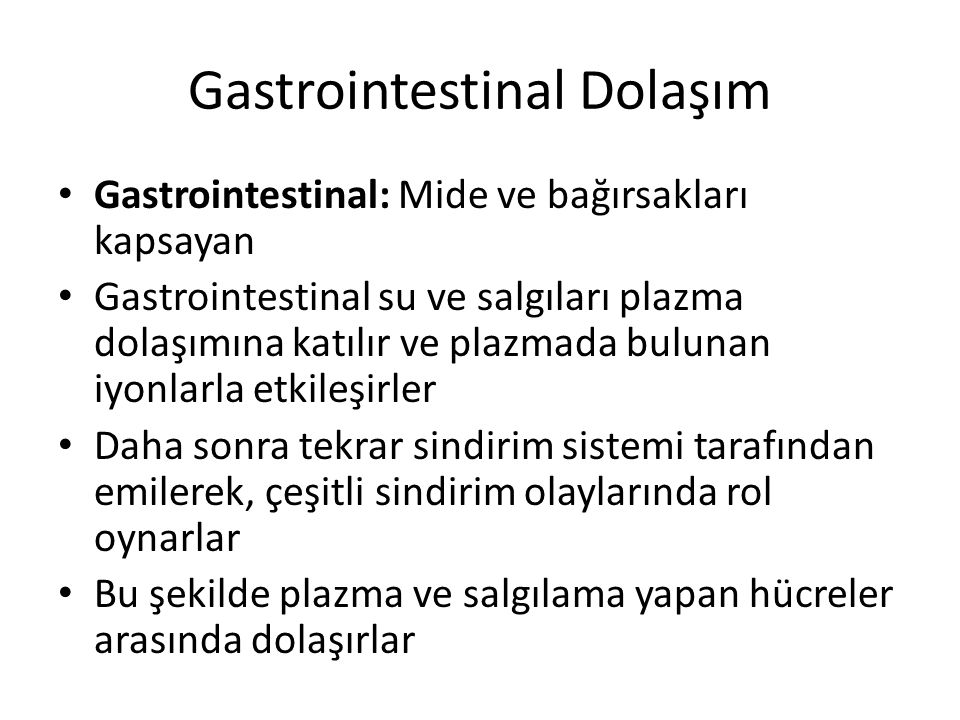 Gastrointestinal Dolaşım