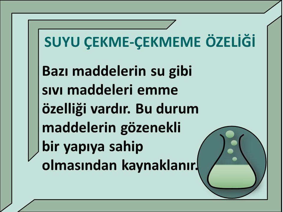 SUYU ÇEKME-ÇEKMEME ÖZELİĞİ