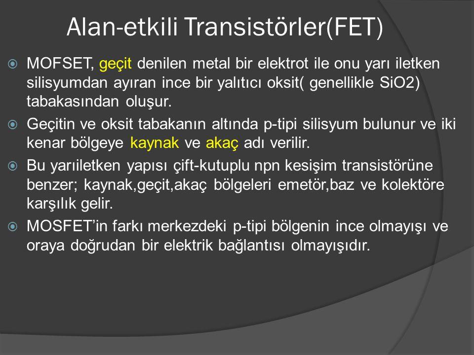 Alan-etkili Transistörler(FET)