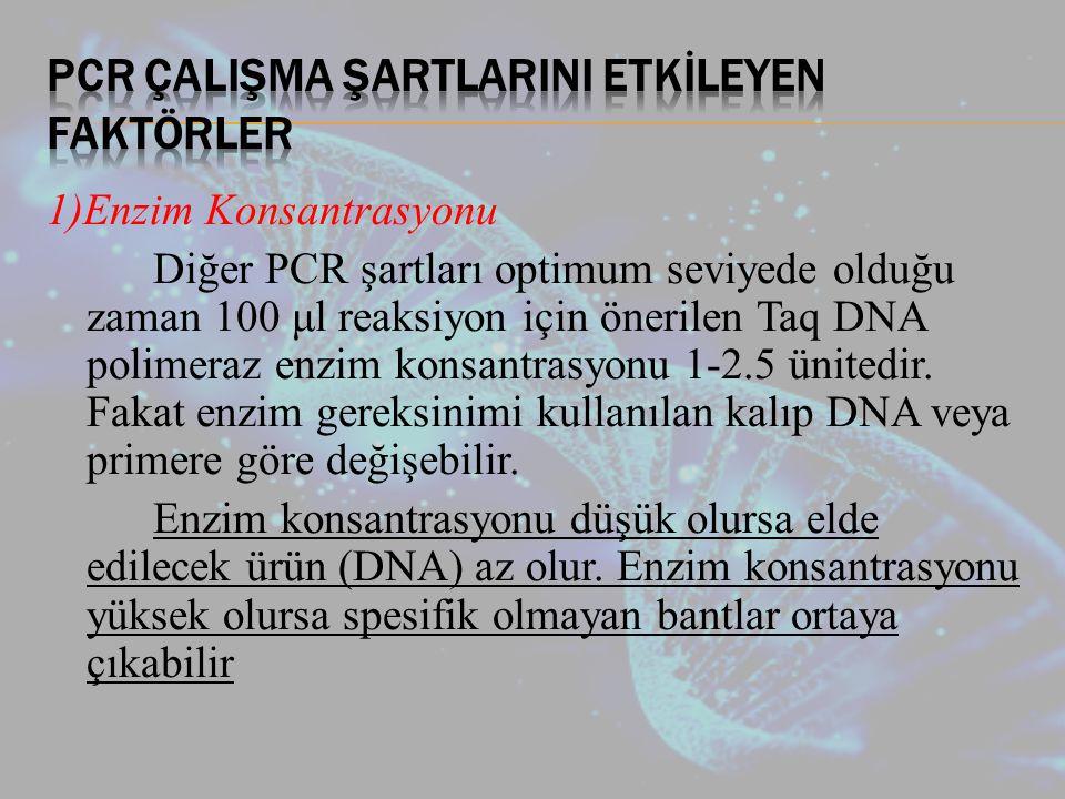 PCR ÇalIşma ŞartlarInI Etkİleyen Faktörler