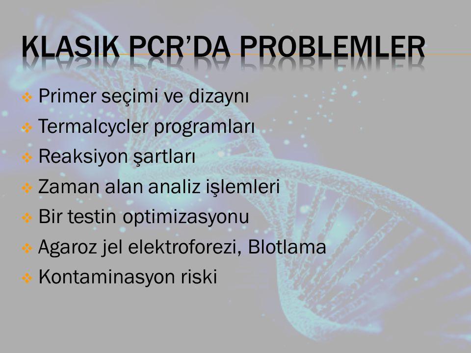 Klasik PCR'da Problemler