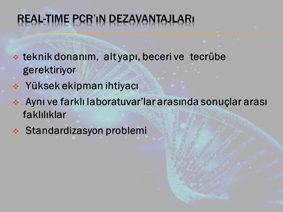 Real-time PCR'ın dezavantajları