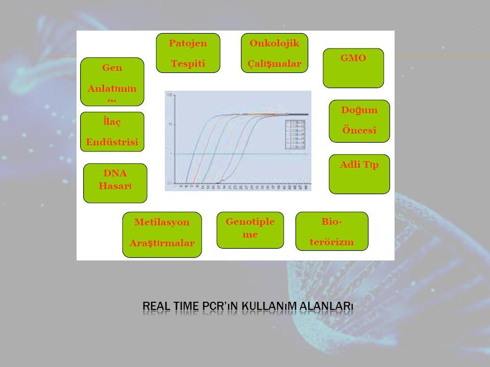 Real time pcr'ın kullanım alanları