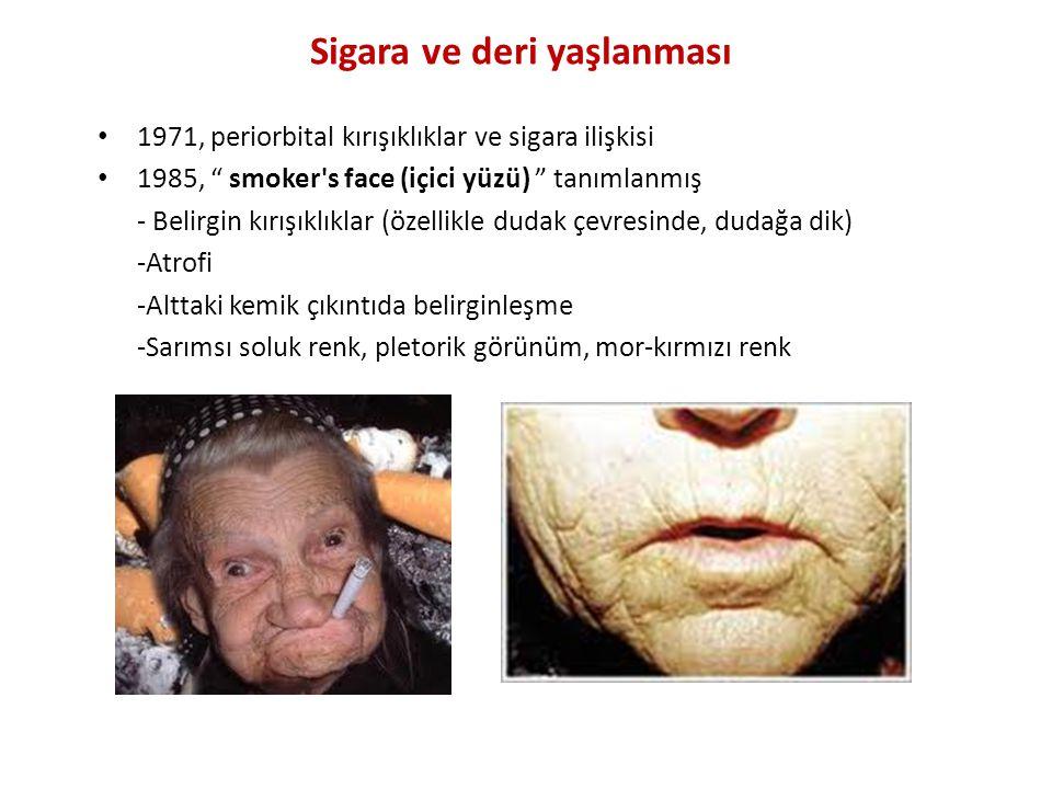 Sigara ve deri yaşlanması