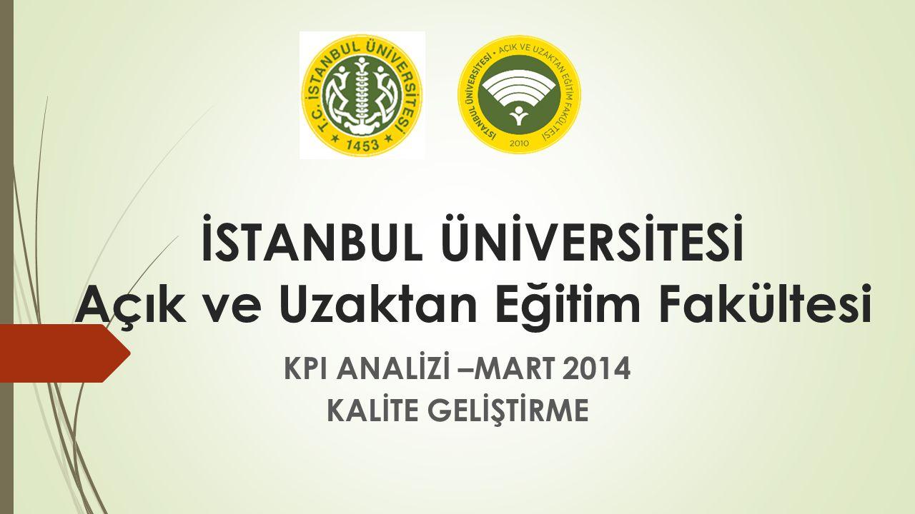 İSTANBUL ÜNİVERSİTESİ Açık ve Uzaktan Eğitim Fakültesi