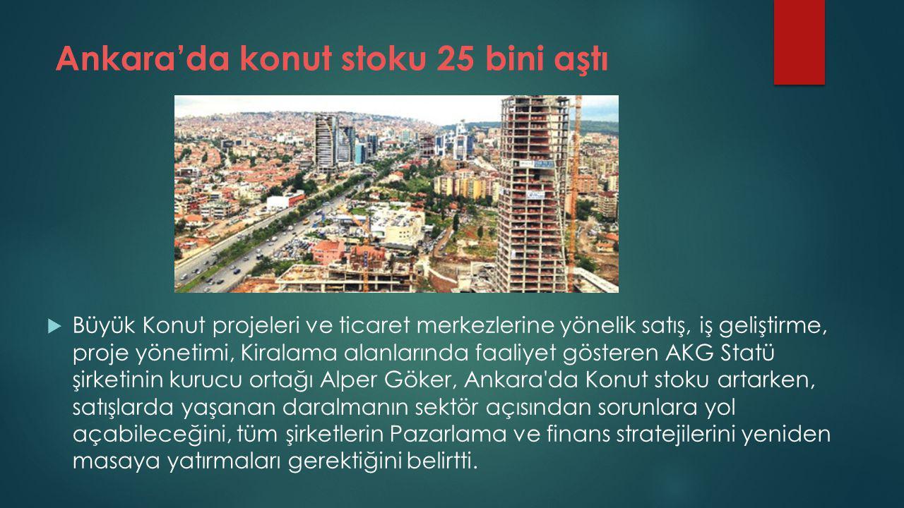 Ankara'da konut stoku 25 bini aştı