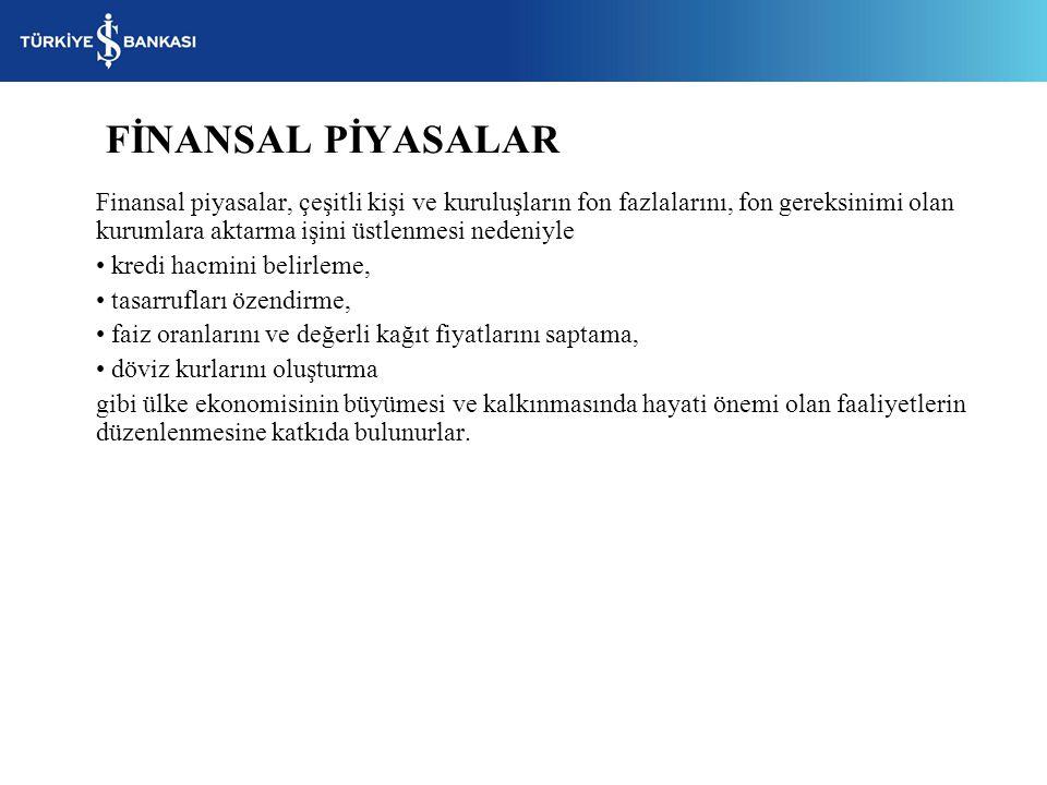 FİNANSAL PİYASALAR