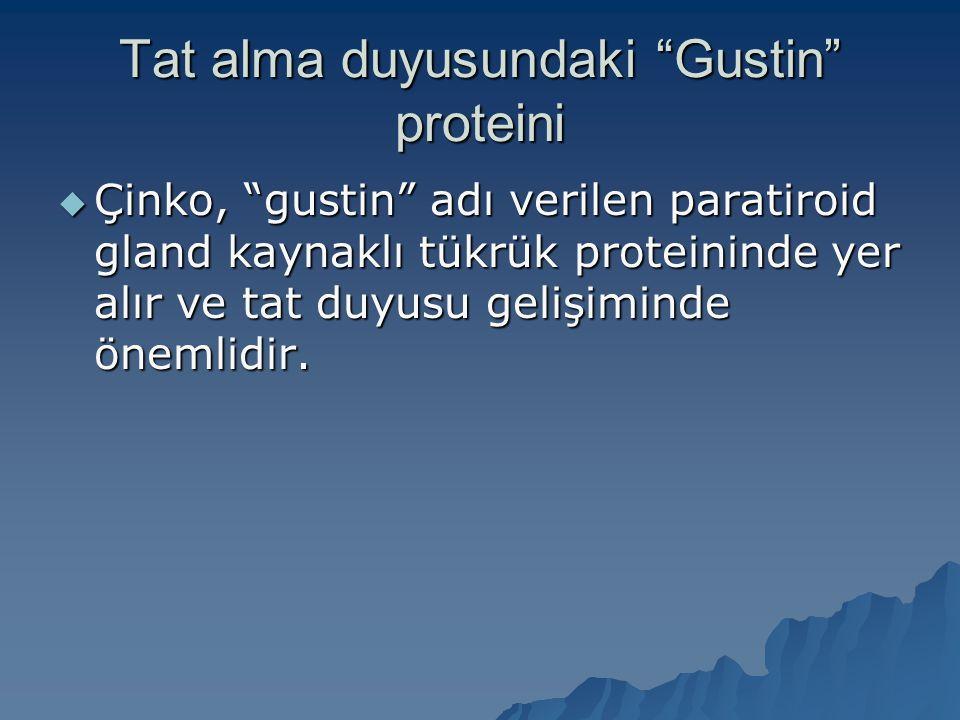 Tat alma duyusundaki Gustin proteini