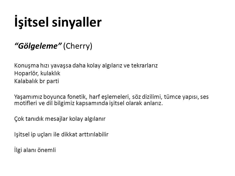 İşitsel sinyaller Gölgeleme (Cherry)