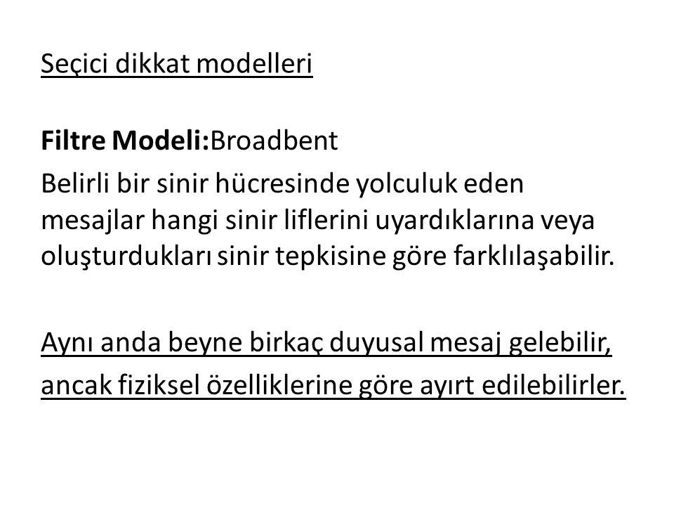 Seçici dikkat modelleri