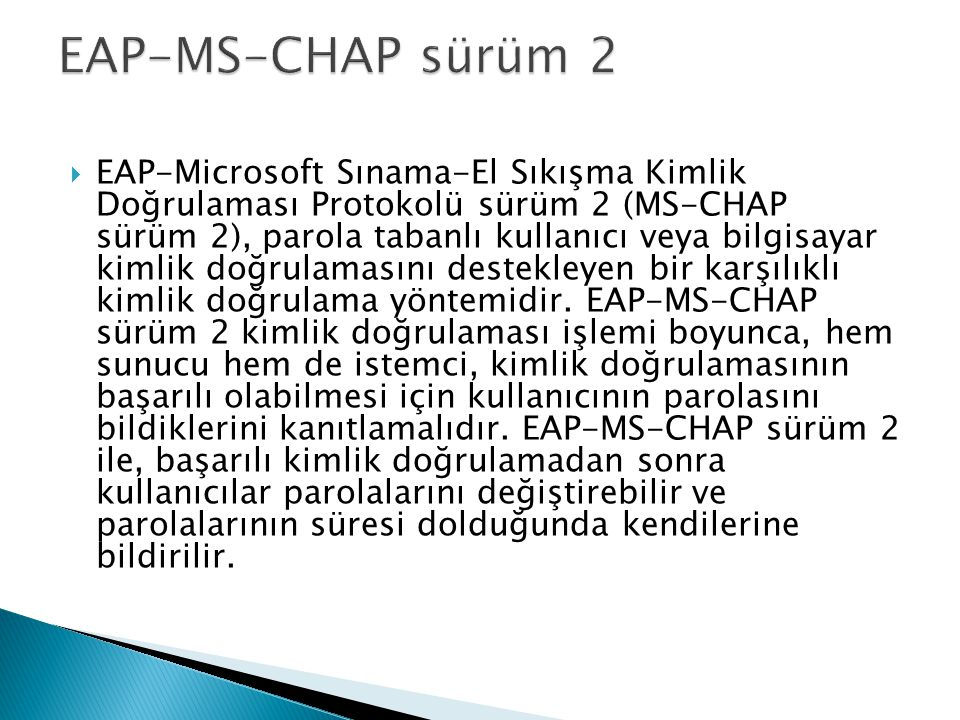 EAP-MS-CHAP sürüm 2