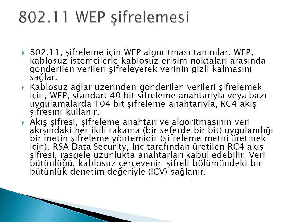 802.11 WEP şifrelemesi