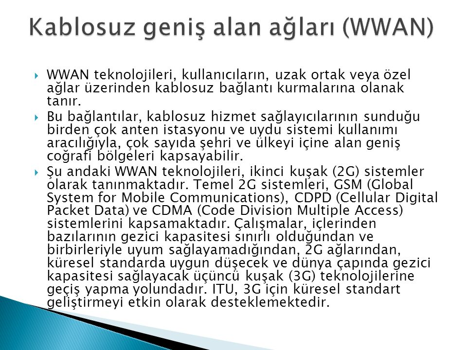 Kablosuz geniş alan ağları (WWAN)