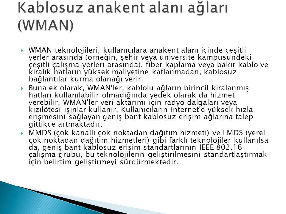Kablosuz anakent alanı ağları (WMAN)