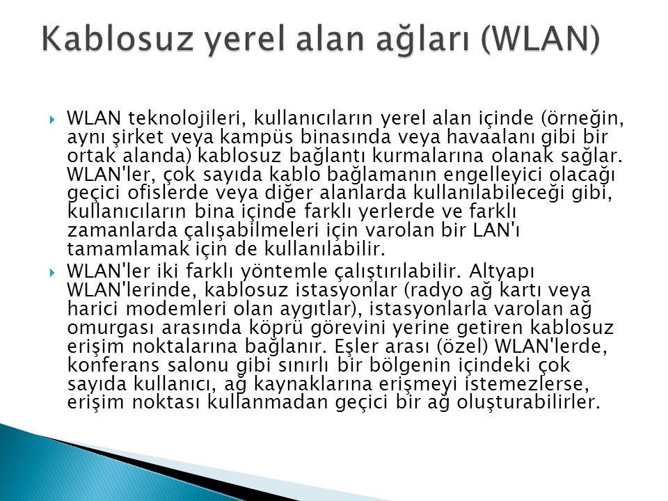Kablosuz yerel alan ağları (WLAN)