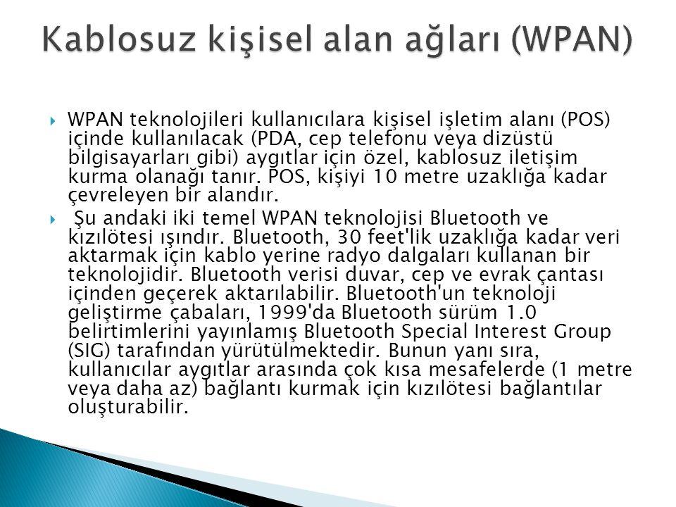 Kablosuz kişisel alan ağları (WPAN)